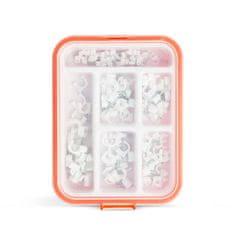 Handy Izbor objemk za pritrjevanje kablov - 5-10 mm - 125 kosov s plastičnim organizatorjem