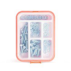 Handy Izbor metričnih vijakov - 2 velikosti s podložkami in maticami - 90 kosov s plastičnim organizatorjem