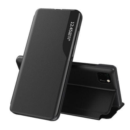 MG Eco Leather View könyvtok Huawei Y5p, fekete