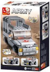 Sluban Army Creator M38-B0537A Jeep 3v1