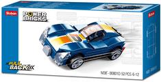 Sluban Power M38-B0801D Natahovací auto modrý sporťák