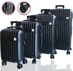 DMS Germany 4-dílná sada kufrů RK-4004 / Černý