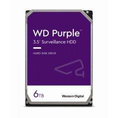 WD Purple trdi disk, 6 TB, SATA3, 5640 rpm, 128 MB