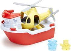 Green Toys Záchranný člun a vrtulník