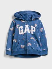Gap Detská mikina GAP Logo v-sp nvlty fz