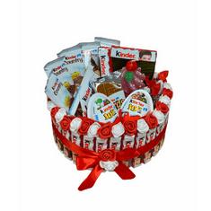 RK Dekorace Kinder jednopatrový dort se svíčkou 24 cm