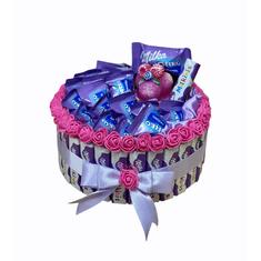 RK Dekorace Milka jednopatrový dort se svíčkou 23 cm
