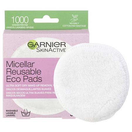 Garnier Újrafelhasználható sminkeltávolító tamponok Skin Active (Ultra Soft Dry Make-Up Removal Pads) 3 db