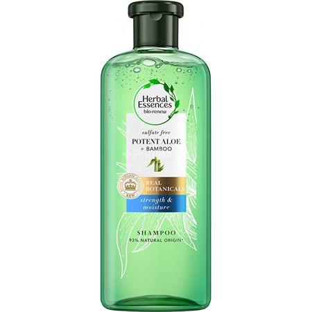 Herbal Essences Hidratáló sampon Potent Aloe + Bamboo (Strength & Moisture Shampoo) (Mennyiség 380 ml)