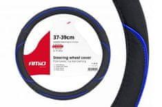 AMIO Prevleka za volan črna z modro črto M 37 - 39 cm
