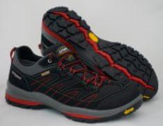 Grisport nizki treking čevlji 12503 , črno/sivi z rdečimi okrasnimi deli