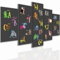 Dalenor Dětský obraz Abeceda, 150x75 cm