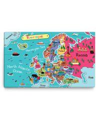 Dalenor Dětský obraz Mapa Evropa, 150x90 cm