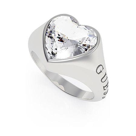 Guess Romantikus gyűrű csillogó szívvel UBR70003 (Kerület 54 mm)