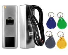 Mave  Naprava za nadzor dostopa s 125 kHZ RFID čipi ter prstnim odtisom - Akcija 4 barvni 125 kHz RFID obeski brezplačno