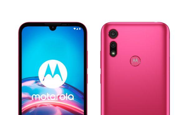 Motorola E6i, Android 10 Go, adaptivní baterie, adaptivní jas, LTE internet čtečka prstů HD velký displej duální fotoaparát hloubkový objektiv