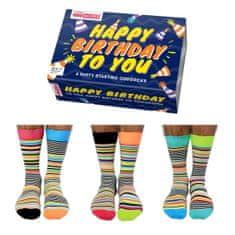 United Odd Socks Veselé ponožky Happy Birthday veľ.: 39-46