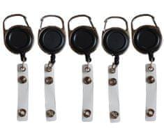 Mave 5 kos Črnih VIP Jojo obeskov za nošenje kartic, ključev, obeskov...