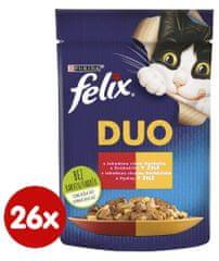 Felix Fantastic DUO marhahússal és baromfival, zselében 26 x 85 g
