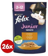 Felix Fantastic Junior csirkehússal zselében 26 x 85 g