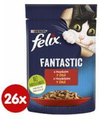Felix Fantastic s hovädzím v želé 26 x 85 g