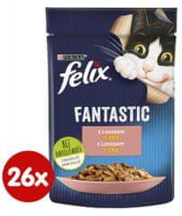Felix Fantastic s lososom v želé 26 x 85 g