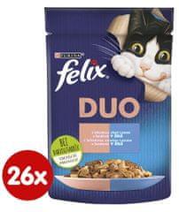 Felix Fantastic DUO so sardinkou a lososom v želé 26 x 85 g