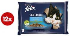 Felix Fantastic lazac és cukkini, pisztráng és zöldbab darabokkal, 12(4x85g)