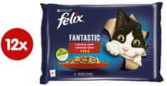 Felix Fantastic nyúl és bárányhússal zselében, 12(4x85g)