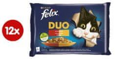 Felix Fantastic DUO kurča a ľadvinky, hovädzie a hydinové, morka a pečeň, jahňacie a teľacie 4 x 85 g