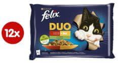 Felix Fantastic DUO jahňacie a kurča s paradajkami, bravčové a zverina s cuketou 4 x 85 g
