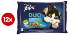 Felix Fantastic DUO treska a losos, losos a sardinky, sleď a pstruh, pstruh a makrela 4 x 85 g