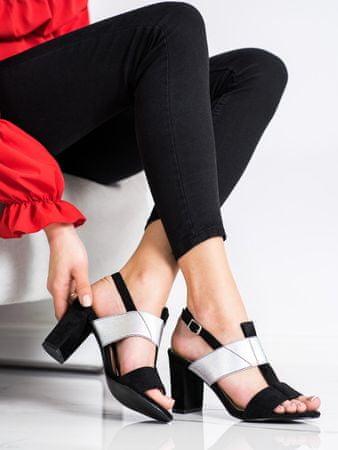 Vinceza Női szandál 69941 + Nőin zokni Gatta Calzino Strech, fekete, 37