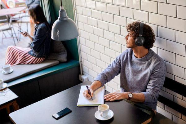 moderne brezžične slušalke Bluetooth 5.0 Jbl live 660NC življenjska doba napolnjenosti 40 ur anc in 50 ur brez mikrofona prostoročni mikrofon aktivno zatiranje hrupa v okolju način zaznavanja okolja hitri par glasovni pomočnik podpora glasovni odpoklic moje slušalke jbl slušalke aplikacija tkanina naglavni trak talkthru funkcija 40 mm pretvorniki jbl zvok zvok z močnimi basi