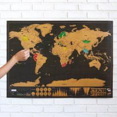 Alum online Veľká stieracia mapa sveta, čierna