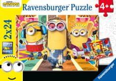 Ravensburger Minioni 2 sestavljanka, 2x 24 delov