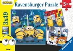Ravensburger Puzzle Mimoni 2 3x49 dielikov