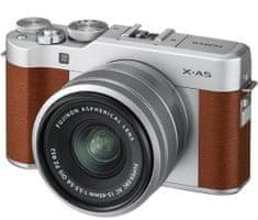 FujiFilm X-A5 + XC 15-45 mm, hnedá