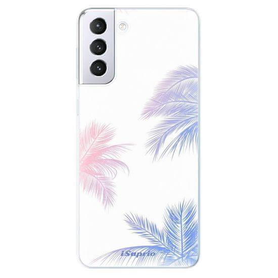 iSaprio Silikónové puzdro - Digital Palms 10 pre Samsung Galaxy S21+