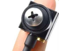 Mini CCTV kamera v šroubku - 600TVL, 0,5 LUX, 60° pinhole