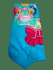 Nickelodeon Dívčí krátké modré ponožky s vílou Shimmer and Shine.
