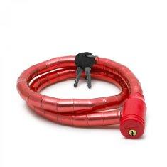WHEEL ZONE Ključavnica za kolo 18mm 100cm rdeča