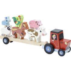 Vilac Dřevěný traktor se zvířátky na nasazování