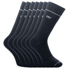 CR7 7PACK ponožky bambusové černé (8184-80-09)