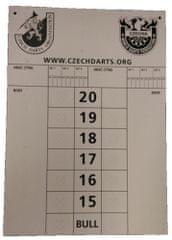 Ostatní ČŠO - Tabuľa na zapisovanie skóre - 30 x 42 cm - obojstranná
