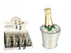 Out of The blue Dekoratívna sviečka šampanské