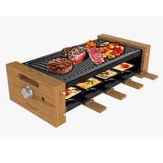 Cecotec Cheese&Grill 8200 raclette žar, črn/les
