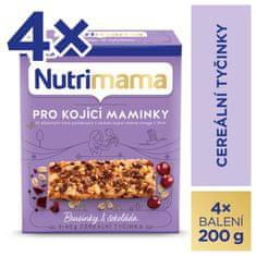 Nutrimama Nutrimama cereálne tyčinky Brusnice & Čokoláda 4x 200 g