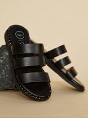 OJJU černé kožené pantofle