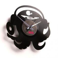 Disc'O'Clock Designové nástěnné hodiny Discoclock 040 DJ Pauly Po 30cm